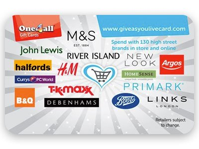 Give as you Live Card logo